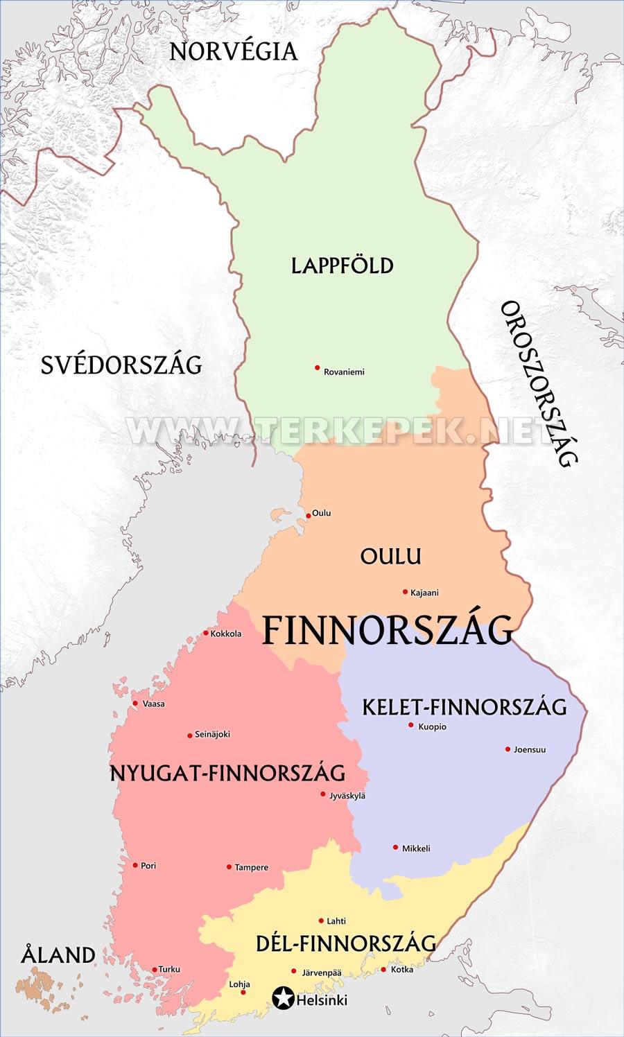 finnország térkép Finnország térképek finnország térkép
